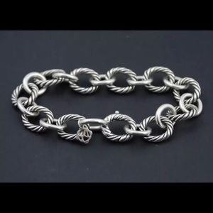 """David Yurman 12mm Large Oval Link Cable Chain 8"""""""
